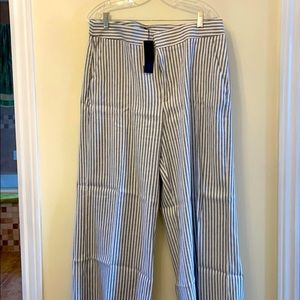 NWT Wide-Leg Striped Pants